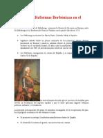 Reformas Borbonicas en El Virreynato
