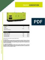 GSW560V Pramac Diesel Generator Spec Sheet
