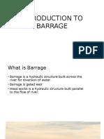 Barrage Ppt