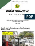 Materi TTG Energi Terbarukan Gaguk2016