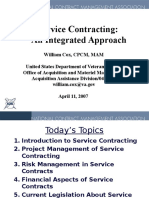 Service Contracting an Integrated Approach William Cox CPCM