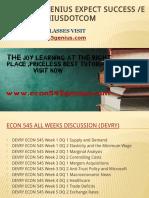 ECON 545 GENIUS Expect Success Econ545geniusdotcom