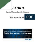 Sekonic Data transfer software Guide en d75 1015