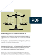 Critical Analysis of the Juvenile Justice (Care & Protection of Children) Act, 2015 - LetsComply