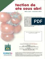 Fiche de protection de la tomate sous abri