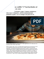 Como Hacer Una Pizza