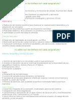Cambios en El Curriculum-Enfasis Curricular