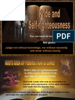 Pride and Selfrighteousness