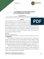 Revisiting Error Analysisthe Case of Bangladeshi Efl Student