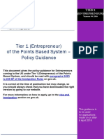 Tier 1 Entrepreneur Guidance April 2016