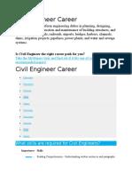 Civil Engineer Career