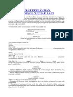 Contoh Surat Perjanjian Sekolah Dengan Pihak Laindocx