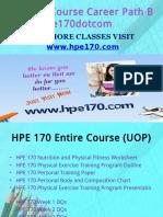HPE 170 Course Career Path Begins Hpe170dotcom