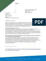 TTIP Letter of Dutch Consumer Organisation Consumentenbond to Minister Ploumen