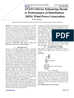 IJAEMS-Application of STATCOM for Enhancing Steady and Dynamic Performance of Distribution System with DFIG Wind Power Generation