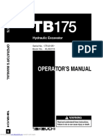 Manual Operador Tb175 Takeuchi en Ingles