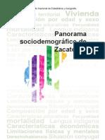 Panorama Socioeconómico Zacatecas