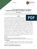 The Influence of Organizational Culture on Internationalization of Mahidol University