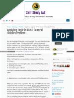 Applying Logic in Upsc General Studies Prel