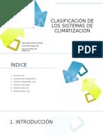 Clasificación de Los Sistemas de Climatización