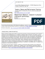 Research in Physical Theatre training for performers