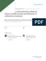 Dentoalveolar Ankylosis Impact Efficiency of Orthodontic Treatment