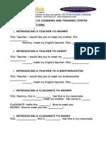 Making Introductions Preschool