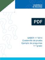 Cuadernillo de preguntas saber 11 2014.pdf