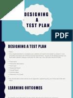 Testing. Designing a test plan