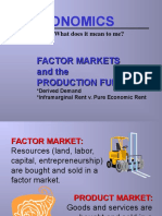Factor Market and Production Market