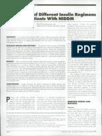 Comparison of Different Regiment Insulin on Elderly Patient With Niddm