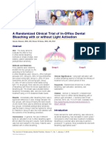 A Randomized Clinical Trial of in-Office Dental Bleaching With or Without Light Activation