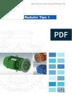 WEG Motor w22 Para Redutor Tipo 1 50040243 Catalogo Portugues Br