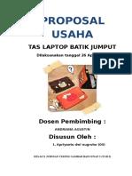 Proposal Usaha Tas Laptop.