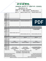 Yearly Planner 2016-17 (Ibpyp, Cbse)