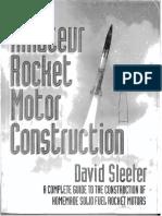 Amateur Rocket Motor Construction