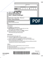 June 2009 QP - Unit 1 Edexcel Geography