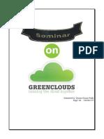 Seminar Report Green Cloud