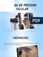 Toma de Presion Ocular