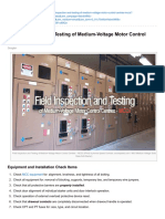 Field Inspection and Testing of Medium-Voltage Motor Control Centres MCCs