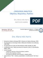 Workshop Rdc 48 Maria Ines Harris METODOLOGIA ANALÍTICA