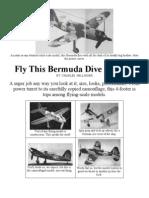 Brewster Bermuda - a Free-Flight Model Airplane