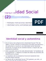 Clase 8 PSI 115 2015 - II (Motivaciones Identitarias)