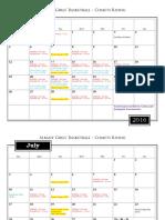 2016 gbb summer schedule