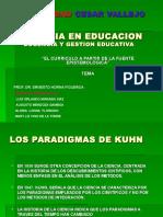EL CURRÍCULO A PARTIR DE LA FUENTE EPISTEMOLÓGICA