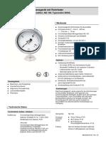 d2-029 Dmg Rohrfeder Druckmittler Ng 100