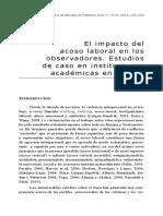 El impacto del acoso laboral en los observadores. Estudios de caso en instituciones académicas en México (Veronika Sieglin)