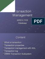c09 Transaction Management Notes