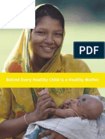 Behind Every Healthy Child is a Healthy Mother, October 2001