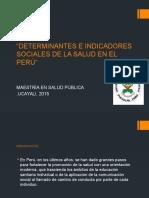 Determinantes e Indicadores Sociales de La Salud